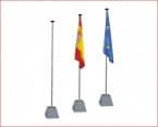 MASTIL Bandera seta Blanco