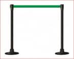 POSTE Separador Catenaria Negro cinta extensible 150 Verde