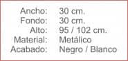 ATRIL Metalico Negro y Blanco