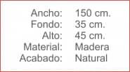 BANCO Madera Natural