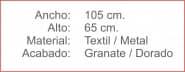 CORTINA cubre Placa Granate Dorado