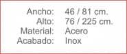 Generador Calor ESTUFA SETA Terraza Inox