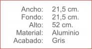 Mobiliario Auxiliar PARAGUERO Gris