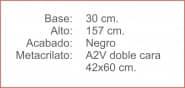 Poste INDICADOR A2 Vertical Negro