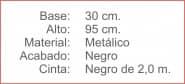 POSTE Separador Catenaria Negro cinta extensible 200 Negro