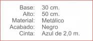 Poste Separador Mini Catenaria Negro cinta extensible 200 Azul