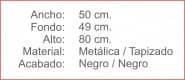 SILLA Plegable tapizada Negro