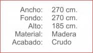 SOMBRILLA 270 Crudo