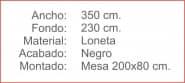TAPETE mesa 200 Negro