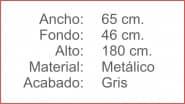 TAQUILLA Metalica 2 cuerpos 4 puertas