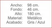 TAQUILLA Metalica 3 cuerpos 3 puertas