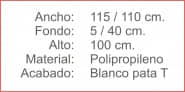 VALLA Polipropileno Blanco