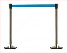 POSTE Separador Catenaria Cromado cinta extensible 150 Azul