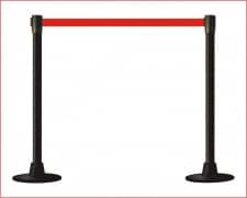 POSTE Separador Catenaria Negro cinta extensible 200 Rojo