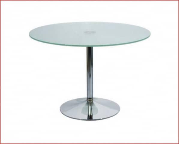 Mesas de cristal redondas ideas de disenos for Mesas de comedor redondas de cristal