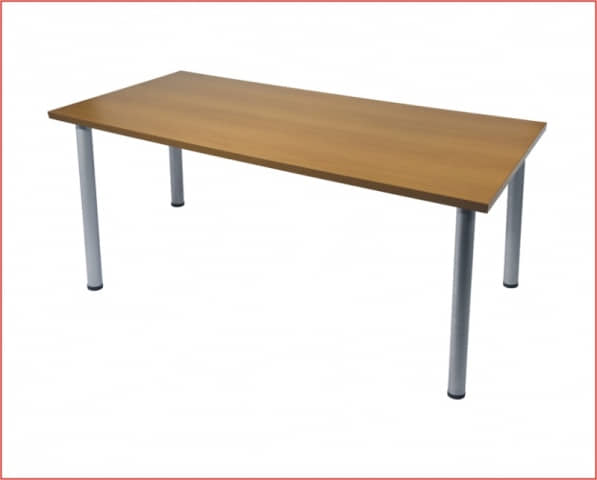 Mesa rectangular domo gris haya 180 for Mesas de comedor rectangulares