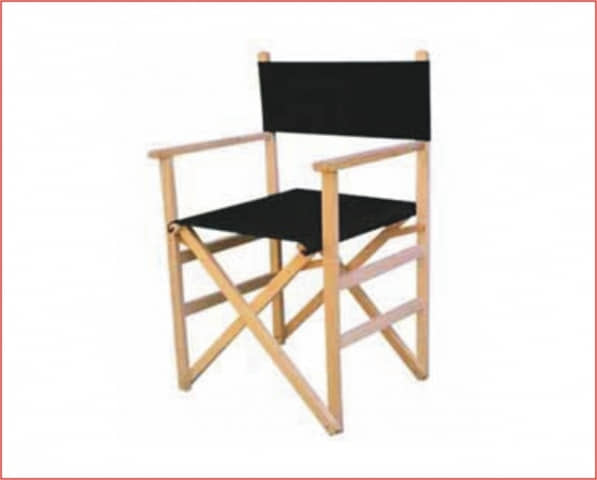 Silla plegable director negro - Sillas director madera ...