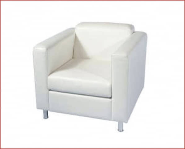 Sofa semipiel blanco 1 plaza for Sofas de una plaza baratos